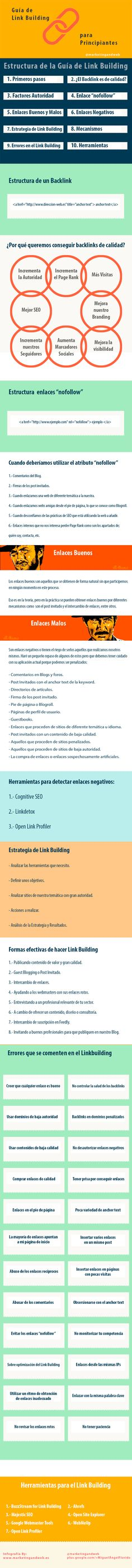 Guía de #LinkBuilding para principiantes  #SEO  by Marketing and Web