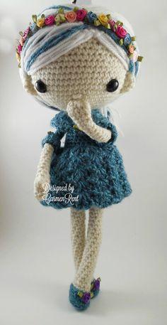 Azul Amigurumi Doll Crochet Pattern PDF от CarmenRent на Etsy