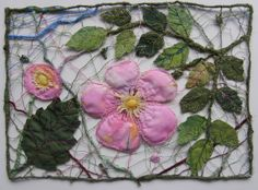 Maija Brummer Free Motion Embroidery, Machine Embroidery Applique, Wet Felting, Needle Felting, Water Soluble Fabric, Textiles, Thread Painting, Contemporary Quilts, Felt Art