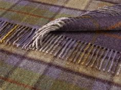 Double Cloth Merino Lambswool Dent Windowpane Heather Throw
