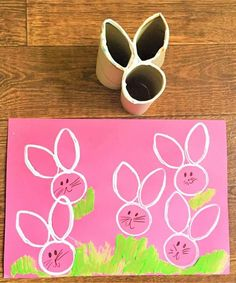 Easter Bunny Craft - Homemade Toilet Roll Stamp - NewYoungMum I saw the Easter Bunny passing the airport! Easter Bunny Craft - Homemade Toilet Roll Stamp - NewYoungMum ---- Idea for how to easily make stamps of various shapes 15 Brilliant and Clever Ideas Daycare Crafts, Bunny Crafts, Easter Crafts For Kids, Preschool Crafts, Rabbit Crafts, Easter Crafts For Preschoolers, Easter Ideas For Kids, Easter Activities For Toddlers, Crafts With Toddlers
