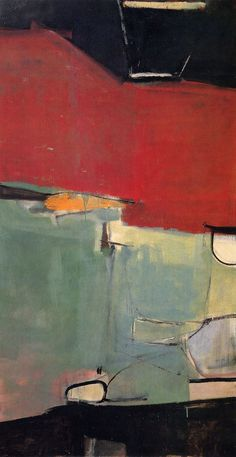 Richard Diebenkorn, Albuquerque No. 77, 1951 - I am so drawn to Diebenkorn's work. Why?? Not just because they are well-composed, there's something in the quality differences of the brush strokes...