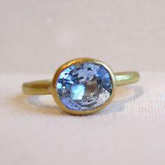 so pretty! sarah perlis sapphire ring $2,300