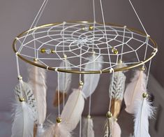 Baby Girl Nursery Decor, Baby Bedroom, Bedroom Decor, Happy Birthday Flower Cake, Feather Mobile, Unicorn Farts, Dreamcatcher Feathers, Gold Feathers, Feather Dream Catcher
