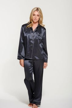 Handmade using 100% Silk charmeuse, our luxurious Silk Pyjama Set is effortlessly glamorous, yet perfect to slip into after a long day at work.