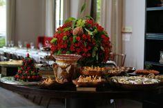 Mesas de chá da tarde