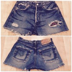 IC creation #levisvintage #short501highrise #womensstyle #destroy #patches #denimwork   #bøbløndøncreatiøn #mysmallgang