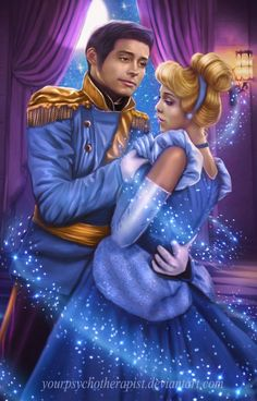 Cinderella & Prince Charming (Drawing by YourPsychoTherapist @deviantART) #Cinderella