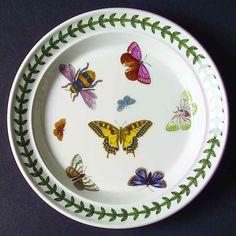 Portmeirion BOTANIC GARDEN BUTTERFLIES Bread Plate #PORTMEIRION