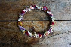 Coronas de flores silvestres