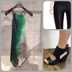 Sometimes it all comes together! Top: Ilaria Nistri Leather leggings: Helmut Lang Shoes: Marsèll