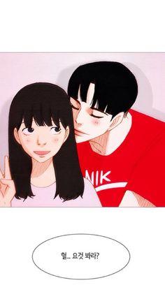 Baeblue and Red Finger ❤ Spirit Fingers Webtoon, Couple Illustration, Manga Love, Manhwa Manga, Cute Anime Couples, Cute Relationships, Anime Girls, Characters, Comics