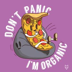Buy Slice of Pizza Illustration by illumylov on GraphicRiver. Slice of Pizza Illustration. Piece of Italian Food With Don't Panic I'm Organic Slogan on Purple Background. Vector I. Pizza Slogans, Pizza Art, Pizza Pizza, Pizza Project, Pizza Photo, Free Postcards, Agriculture Logo, Purple Backgrounds, Cool Wallpaper