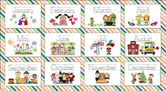 Months of the Year Preschool Printable