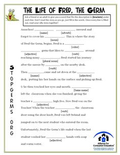 Looking for some educational, but fun ways to talk to your kids about disease prevention? Check out these Mad Libs and Mazes to teach them all the right tips and tricks! School Health, Health Class, Health Lessons, Health Education, Teaching Science, Science Activities, Activities For Kids, Teaching Ideas, Mad Libs