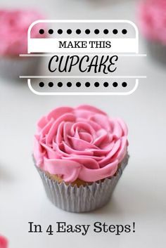 Want to learn how to make this pretty, piped flower cupcake? Download Craftsy's free PDF guide and learn how to master buttercream flowers in just 4 easy steps! The guide also includes recipes for homemade buttercream, directions on how to crust your buttercream, and other helpful tips & recipes!