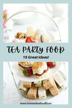 Dessert Party, Party Food Menu, Tea Party Recipes, Fancy Party Food, Tea Party Sandwiches Recipes, Simple Party Food, Tea Party Desserts, Tee Sandwiches, High Tea Sandwiches