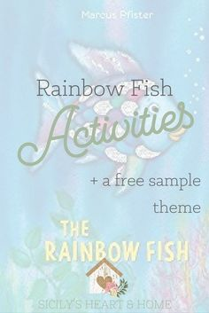 During our beach toddler theme, we spent a whole day focusing on activities around The Rainbow Fish by Marcus Pfister. All About Me Preschool, Preschool At Home, Preschool Lessons, Craft Activities For Kids, Kindergarten Activities, Book Activities, Preschool Activities, Preschool Kindergarten, Preschool Learning