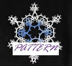 PATTERN: For SNOWFLAKE -in- a- SNOWFLAKE Tatting Pattern Christmas Ornament $4.99