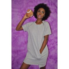 Grey Sweatshirt Dress. $59.00. Available in Small, Medium and Large. Model is wearing a Small. Model: @pydee Glam: @shelbeniece Styling: @shes_sophilthy Photography: @emariemarie