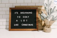 Perfectly Imperfect Minimal Christmas — Farmhouse Living My credit check even said so. Word Board, Quote Board, Message Board, Christmas Humor, Christmas Holidays, Holiday Fun, Quotes About Christmas, Funny Christmas Sayings, Christmas Captions