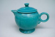 fiestaware teapots vintage | Fiesta Pottery For Sale Vintage Fiestaware Large Size Turquoise Teapot
