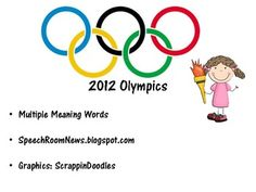 $5.00 from speechroomnews. Olympics themed download includes 40 pages and 4 different activities including: multiple meaning words, irregular verbs, upper level elementa...