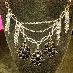 Necklace Free with purchase Black and silver necklace free with purchase of three or more Jewelry Necklaces