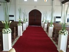 Compensate by putting tall greens or white painted twigs RCJC flower shop - 'CHURCH WEDDING FLOWER ARRANGEMENT' - Photo #29 of 159