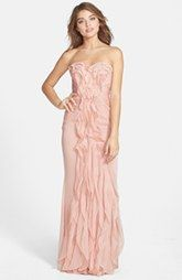 Adrianna Papell Ruffled Chiffon Dress