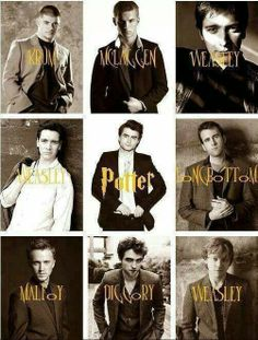 Best to worst: Weasley, Malfoy, Weasley, Mclaggen, Potter, Longbottom, Diggory, Krum, Weasley.  Ron being last and the twin in the upper right corner the hottest❣❣