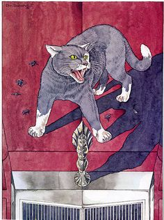 Tough Tom from The Literary Cat. Illustration by Emanuel Schongut. S)