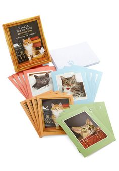 I Could Pee on This Notecards. Ever wonder what your sweet feline would say to you if it had the opportunity to send you a birthday card or 'thank you' note? #gold #prom #modcloth