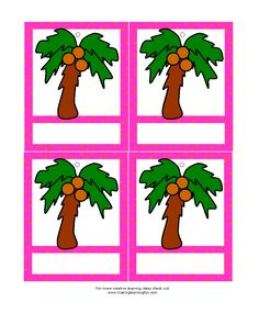Google image result for for Chicka chicka boom boom palm tree template