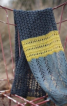 I love this grey with a little pop of colour yummy!! Hill Country Weavers Lady Fern Lace Scarf/Shawl Knitting Pattern