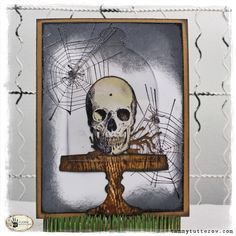 Sizzix: Die Cutting Inspiration and Tips: So Spooky! Tim Holtz Bell Jar + Stamp2Cut Card