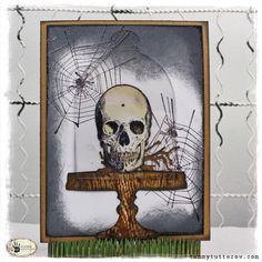 Sizzix: So Spooky! Tim Holtz Bell Jar + Stamp2Cut Card