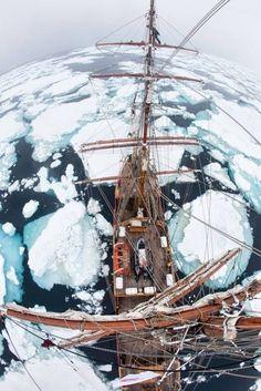 Bark Europa in the Arctic