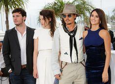Sam Claflin, Àstrid Bergès-Frisbey, Johnny Depp, and Penelope Cruz at Festival De Cannes (2011)