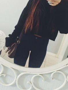 crop sweaters and high waist
