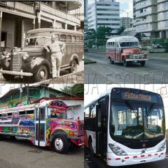 The Chiva buses in Panama... Riding them as always fun and a little scary too! LOL! Historia del transporte público  en Panamá desde la construcción del canal hasta ahora con el Metro Bus. Flor Fossatti.