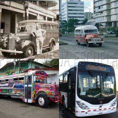 The Chiva buses in Panama... Riding them as always fun and a little scary too! LOL! Historia del transporte público  en Panamá desde la construcción del canal hasta ahora con el Metro Bus. Flor Fossatti.