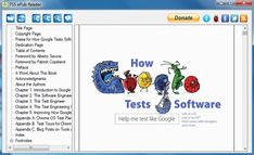 FSS ePub Reader is a very basic reader that will allow you to read your collection of digital books, documents, and comics. It also includes a converter to change ePub files to PDF, Html or plain text. Page Table, Windows Software, Title Page, Engineering, This Book, Pdf, Change, Comics, Digital
