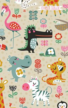 illustration in 2019 kids patterns, helen dardik, illustratio Kids Patterns, Textures Patterns, Print Patterns, Animal Patterns, Cute Animal Illustration, Pattern Illustration, Illustration Children, Magazine Illustration, Book Illustration