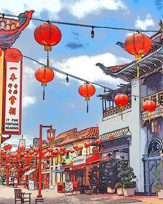 LA Chinatown always looks like a movie set