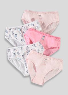 f6b48735544df Girls 5 Pack Ballerina Print Briefs (18mths-13yrs) Underwear Shop, Matalan,