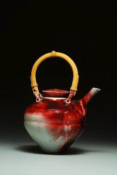 Porcelain teapot, cone 10 reduction.