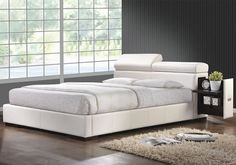 Leather Platform Bed White Furniture Stores Chicago