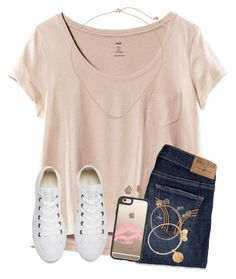 """""""COUGH IS GETTING A BIT BETTER YASSS"""" by twaayy ❤ liked on Polyvore featuring H&M, Hollister Co., Converse, Casetify, Alex and Ani, Kendra Scott and Gorjana"""