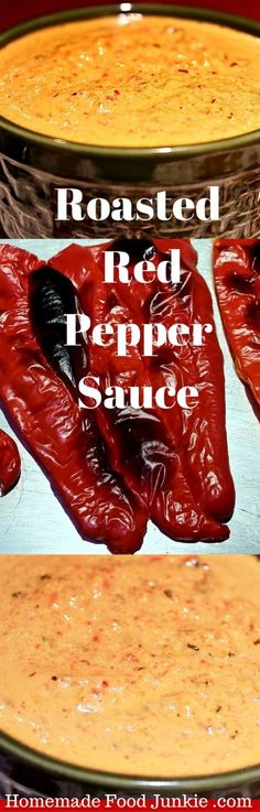 Roasted Pepper Sauce by HomemadeFoodJunkie.com